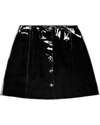 VEIL LONDON - Black Patent Leather Skirt - Lyst