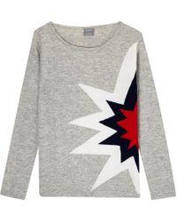 Orwell + Austen Cashmere - Starburst Sweater Grey - Lyst