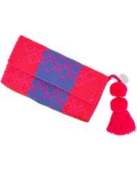 Soi 55 Lifestyle - Conchita Mexican Beach Clutch Purse Rosa - Lyst