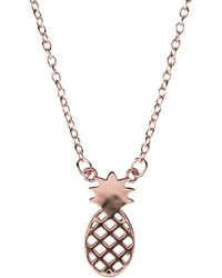 Latelita - Cosmic Pineapple Necklace Rosegold - Lyst