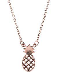 LÁTELITA London - Cosmic Pineapple Necklace Rosegold - Lyst