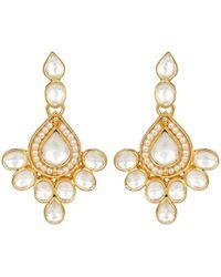 Carousel Jewels - Elegant Crystal & Pearl Drop Earrings - Lyst