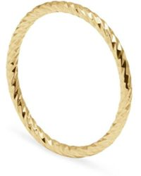 Myia Bonner - Gold Faceted Diamond Band - Lyst