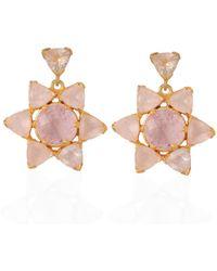 Emma Chapman Jewels - Lakshmi Rose Quartz Morganite Earrings - Lyst