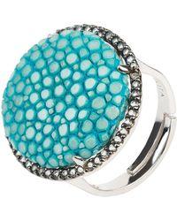 LÁTELITA London - Stingray Round Ring Turquoise Blue - Lyst