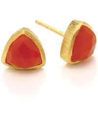 Dione London - Celeste Small Triangle Stud Earrings - Lyst