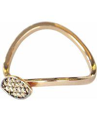 Sadekar Jewellery - Shuttle Ring Brown - Lyst