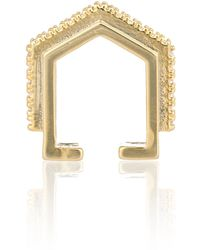 Astrid & Miyu - Fitzgerald Block Ear Cuff In Gold - Lyst