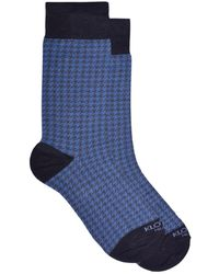 KLOTERS MILANO - Light Blue And Grey Houndstooth Socks Pack - Lyst