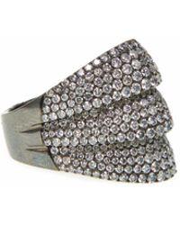 Ri Noor - Diamond Blackened Thick Ring - Lyst
