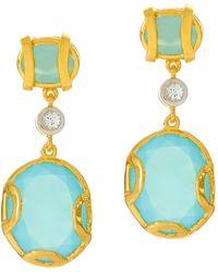 Alexandra Alberta - Madison Blue Chalcedony Earrings - Lyst