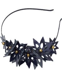 Maggie Mowbray Millinery - The Fay Leather Headband - Lyst