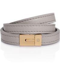 TANCHEL - Samaya Triple Bracelet In Sand Castle Grey - Lyst