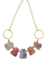 Magpie Rose - Peruvian Pink Opal Statement Necklace - Lyst