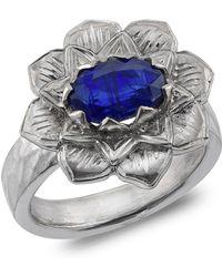 Emma Chapman Jewels - Lotus Kyanite Ring - Lyst