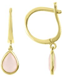 Latelita London Pisa Mini Teardrop Earrings Rose Gold Smoky Quartz K4ijQ