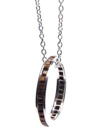 Puck Wanderlust - Tigers Eye Silver Eternity Ring Necklace - Lyst