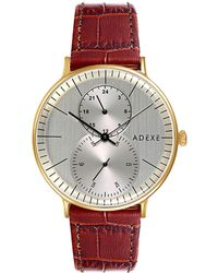 ADEXE Watches - Foreseer Grande Gold & Brown - Lyst