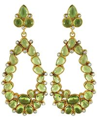 Carousel Jewels - Peridot & Crystal Statement Earrings - Lyst