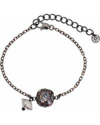 Nadia Minkoff - Patina Stone & Spike Bracelet Black - Lyst
