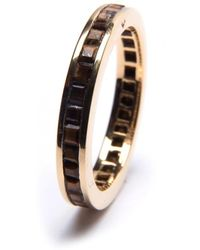 Puck Wanderlust - Gold Tiger's Eye Square Eternity Ring - Lyst