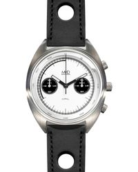 MHD Watches - Mhd Cr1 Panda Dial Chronograph Watch With Black Strap - Lyst