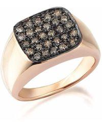Sadekar Jewellery - Square Pave Ring - Lyst