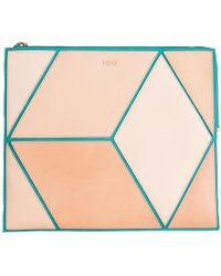 HEIO - The Cube Turqueta Large Clutch - Lyst