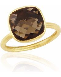 Auree - Conillera Smokey Topaz & Gold Ring - Lyst
