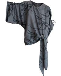 CONSTANTINE/RENAKOSSY - Printed Kimono Blouse In Grey - Lyst