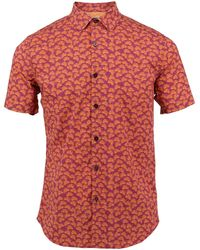lords of harlech - Scott Shirt In Mulberry Leaves - Lyst