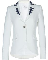 The Extreme Collection - White Frac With Embroidery - Lyst