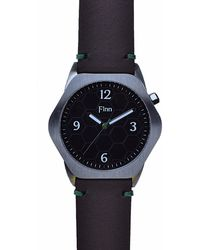 Finn Watches - The Causeway Black With Chocolate Strap - Lyst