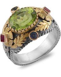 Emma Chapman Jewels - Empress Peridot Blue Sapphire Ruby Ring - Lyst