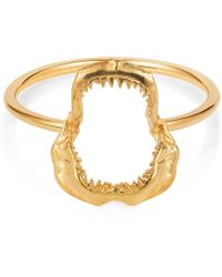 Lee Renee - Shark Jawbone Ring Gold Vermeil - Lyst