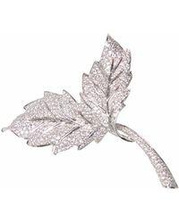 Ri Noor - Two Leaf Brooch - Lyst