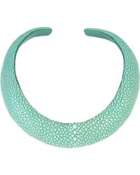 LÁTELITA London - Stingray Sculptural Necklace Aqua - Lyst