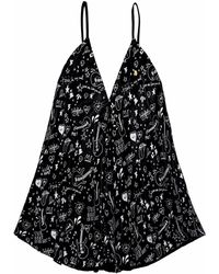 .MCMA. London - Exclusive Print Leather Black Dress - Lyst