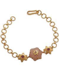 Emma Chapman Jewels | Sylvie Peach Moonstone Ruby Bracelet | Lyst