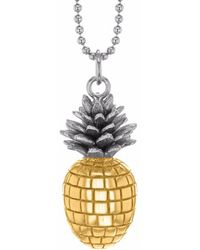 True Rocks - Large Pineapple Two Tone Necklace - Lyst