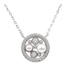 LÁTELITA London - Lulu White Pearl Pendant Necklace Silver - Lyst