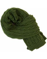 40 Colori | Green Solid Thick Wool Scarf | Lyst