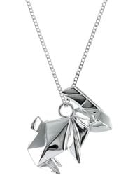 Origami Jewellery - Rabbit Necklace Sterling Silver - Lyst