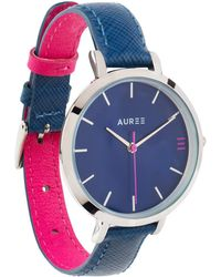Auree - Montmartre Silver Watch With Royal Blue & Hot Pink Strap - Lyst