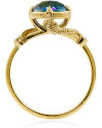 Lee Renee - Seahorse Blue Topaz Ring Solid Gold - Lyst