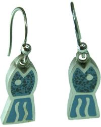 Jan D - Blue Fish Earrings - Lyst