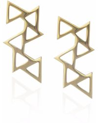 Sally Lane Jewellery - Ladder Of Life Gold Geometric Earrings - Lyst