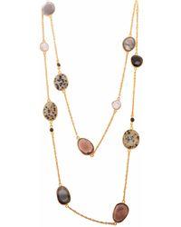 Carousel Jewels - Black Onyx Dendrite Smoky Quartz & Pearl Chain Necklace - Lyst