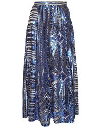 Jiri Kalfar - Blue & Gold Sequin Skirt - Lyst