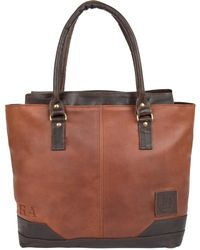 MAHI - Leather Florence Tote Handbag In Vintage Brown - Lyst